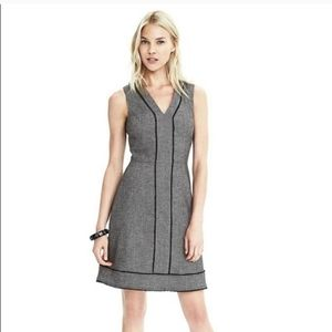 Banana Republic Wool Herringbone Sleveless Dress